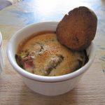 Crème brûlée à la rhubarbe