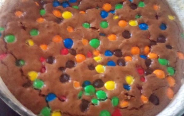Brownies gourmands aux M&M's