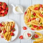 Crêpes chocobanane-fraise-chantilly