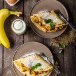 Crêpes gourmandes banane-nutella-caramel