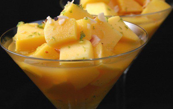 Mangue au jus d'agrumes épicé