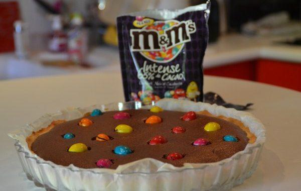Tarte chocolat noir et m&m's