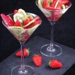 Salade de fraises et kiwis