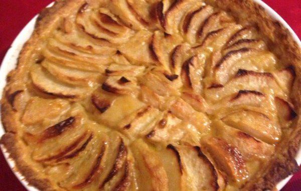Tarte pomme-poire au caramel de miel