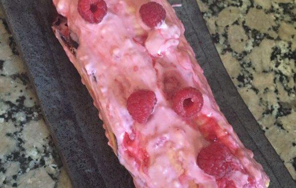 Biscuit roulé mascarpone framboises