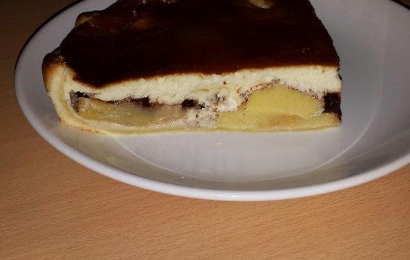Tarte aux poires chocolat et mascarpone