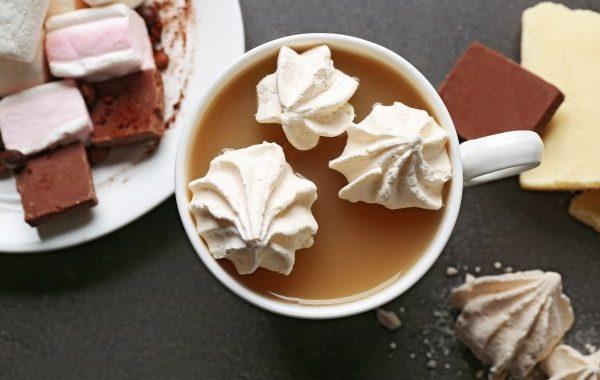 Mousse au chocolat et meringues glacée