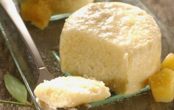 Mousse de mangue et gingembre confit