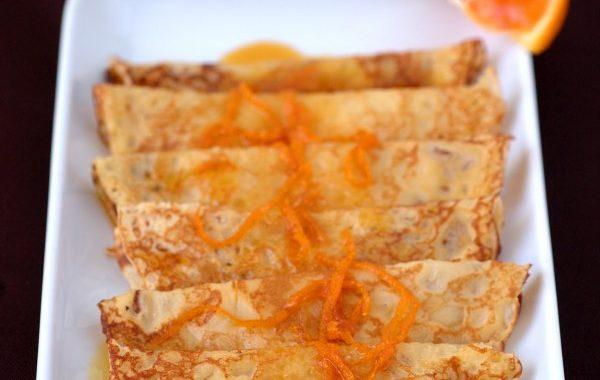 Crêpes nappées au caramel orangé