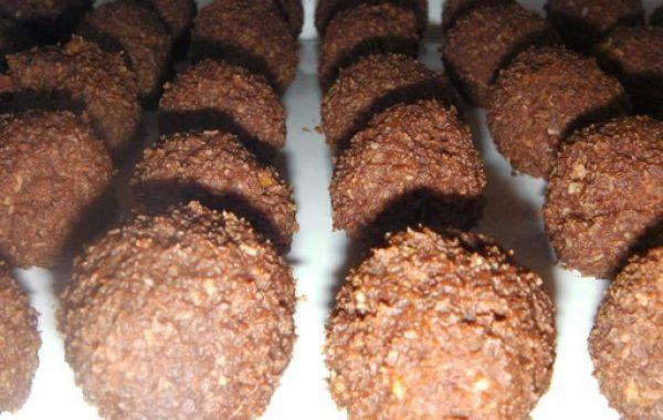 Les Bolas (boules chocolat et noix de coco)