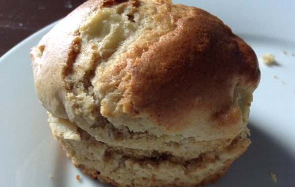 Muffin léger pomme coco cannelle