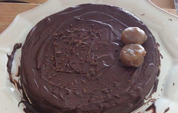 Moelleux au chocolat et aux marrons glacés