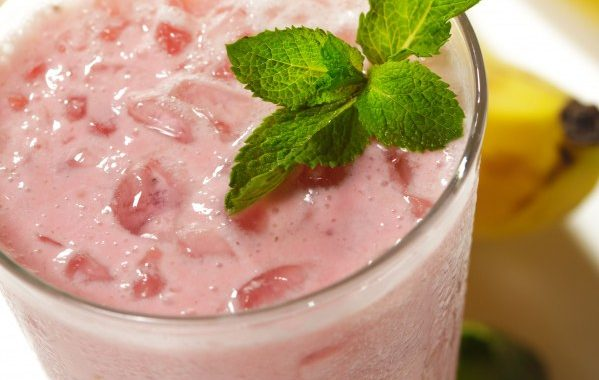 Smoothie banane-fraise