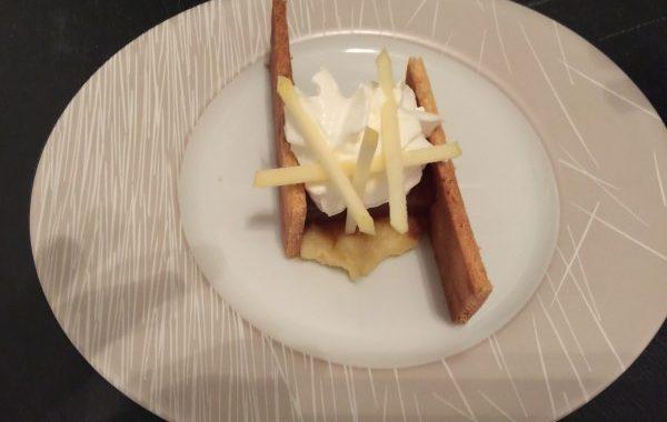 Tarte aux pommes revisitée façon Xavier de Top Chef