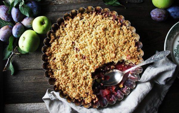 Crumble pommes – prunes