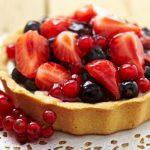 Tarte crème pâtissière et fruits rouges