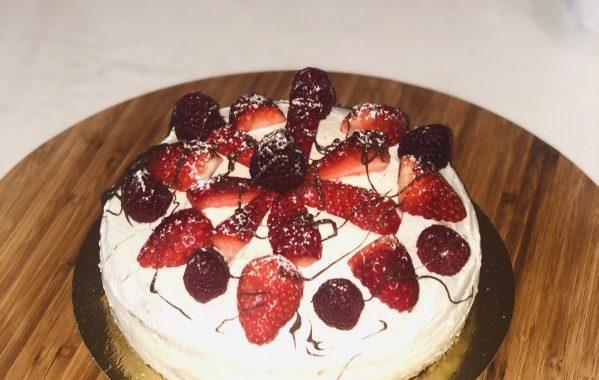 Génoise aux fraises très facile
