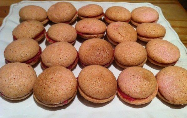 Macarons framboises/myrtilles