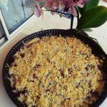 Crumble gourmand ananas & framboise