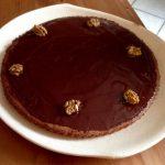 Gâteau aux Noix, nappage Chocolat noir