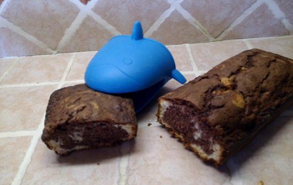 Marbré fondant au chocolat et à la vanille