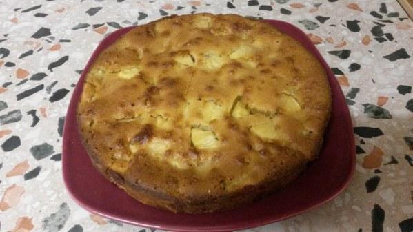 Gâteau aux pommes caramélisé au miel