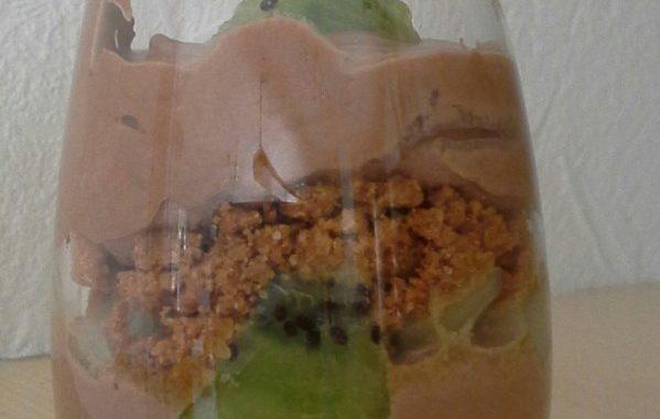 Tiramisu chocolat blanc et kiwi