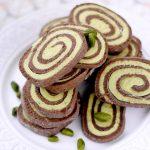 Biscuits spirales cacao pistache