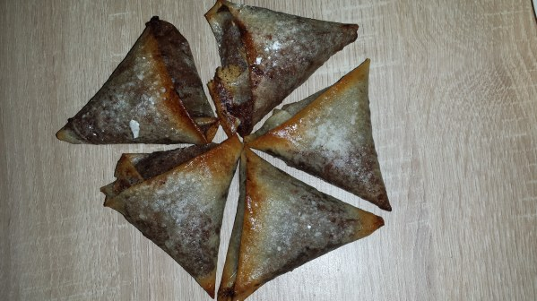 Samossas chocolat banane coco