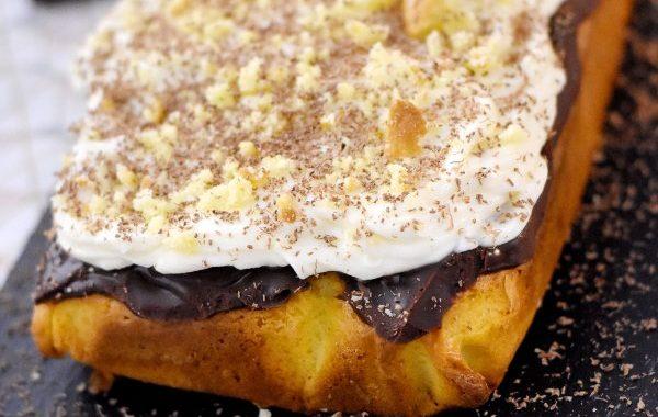 Poke cake chocolat mascarpone