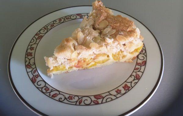Clafoutis aux mirabelles macaronné