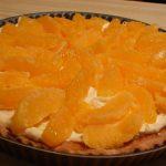 Tarte à l'orange et amandes de Noël