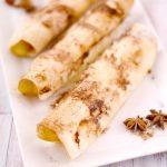 Roulés de tortilla pomme cannelle