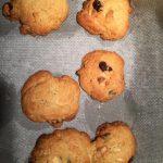 Cookies au chocolat blanc, cranberries et graines de courges