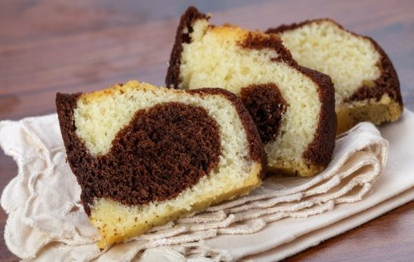 Cake marbré au chocolat noir (sans beurre)