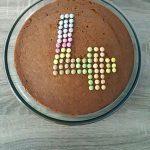 Gâteau au yaourt aux Smarties et à la vanille