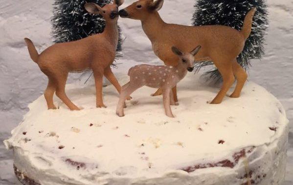 Naked cake chocolat-caramel