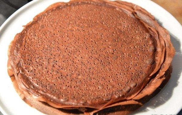 Crêpes au cacao