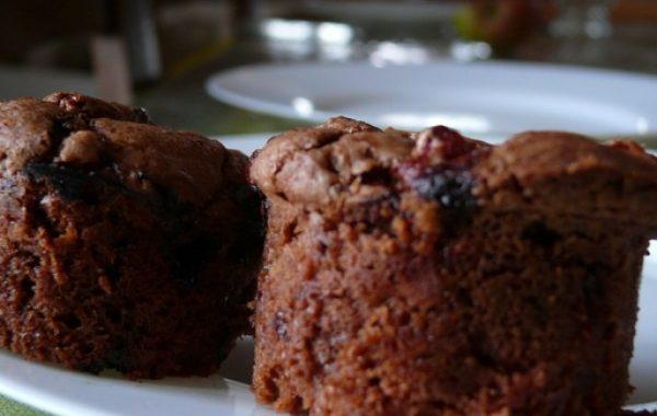 Muffins au chocolat et groseilles