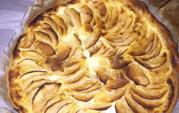 Tarte pommes chocolat blanc