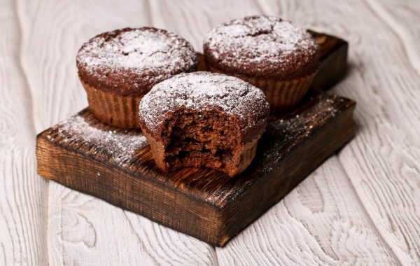 Muffins au cacao et au miel
