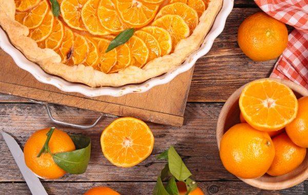 Tarte à l'orange et à la crème pâtissière