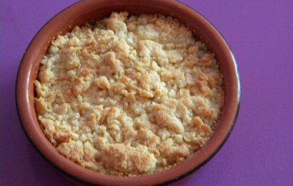 Crumble aux poires vanillées