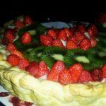Tarte aux fraises et aux kiwi de Catherine
