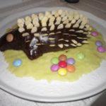 Gâteau d'anniversaire hérisson