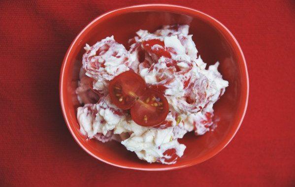 Tomates cerises au mascarpone