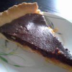 Tarte orange & chocolat en poudre