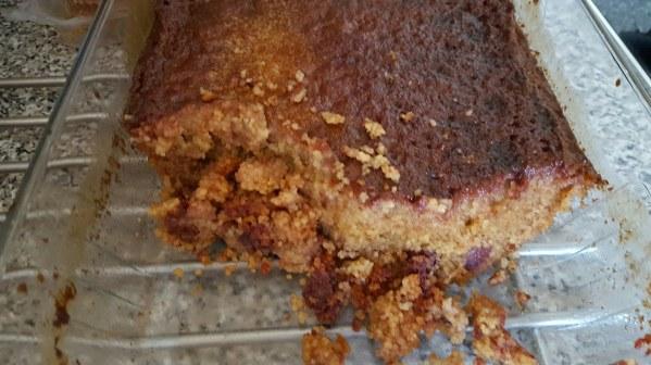 Gâteau de semoule de couscous aux dattes