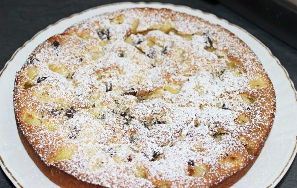 Gâteau aux pommes choco coco