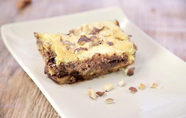 Croque-cake pâte à tartiner et noisettes